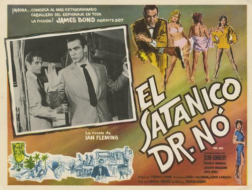 Cartel de promoción de Dr. No, primera película de James Bond en español.