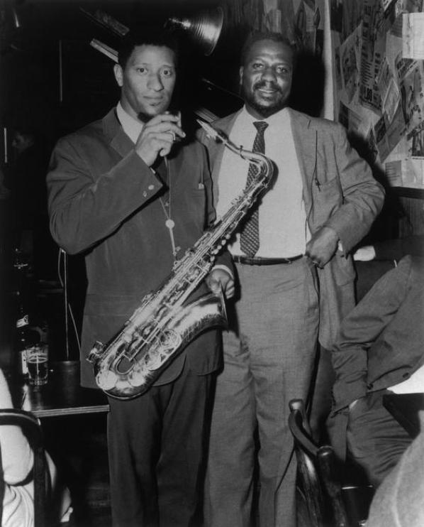 Sonny Rollins (saxo) y Thelonious Monk (Piano), en el  Five Spot Café en 1957