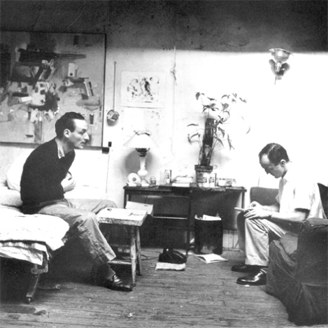 Frank O'Hara y Larry Rivers.
