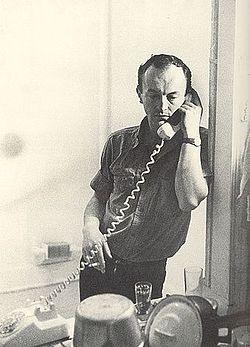 Frank O'Hara en 1965. Fotografía de Mario Schifano.