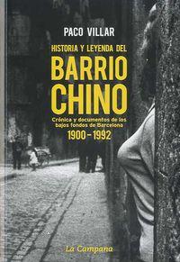 Historia y leyenda del Barrio Chino 1900-1992 (1996); Paco Villar
