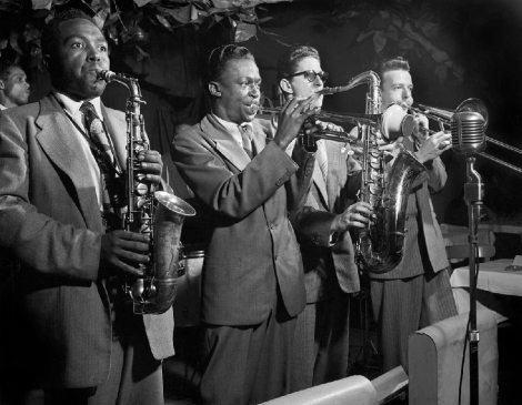 Miles Davis, en el Royal Roost, con Charlie Parker en otoño de1948