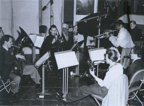 Uno de los momentos de la grabación de Birth of the Cool.